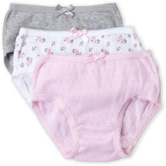 Rene Rofe Toddler Girls) 3-Pack Pointelle Knit Brief Panty