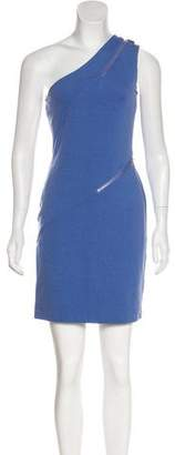 Halston One-Shoulder Mini Dress