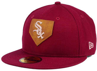 New Era Chicago White Sox The Logo of Leather 59FIFTY Fitted Cap