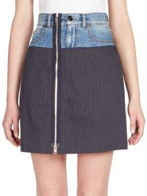 Maison Margiela Pinstripe Denim Skirt