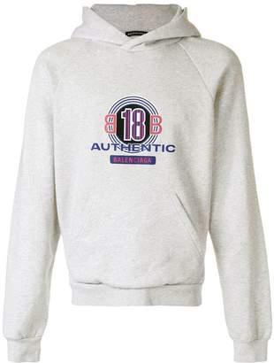 Balenciaga graphic logo hoodie