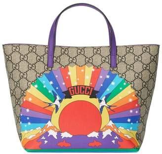 93970f4e263 Gucci Kids Children s GG rainbow birds tote