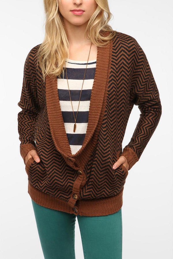 A+RO Drapey Double Breasted Cardigan