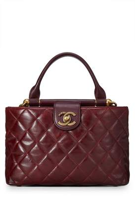 f44a4a345a3f ... What Goes Around Comes Around · Chanel Burgundy Quilted Calfskin Satchel