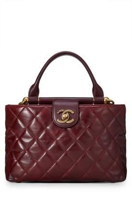 d12512eed049 Chanel Burgundy Quilted Calfskin Satchel