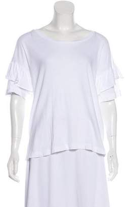 Current/Elliott Accented Short Sleeve Top