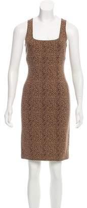 Michael Kors Leopard Printed Wool Dress