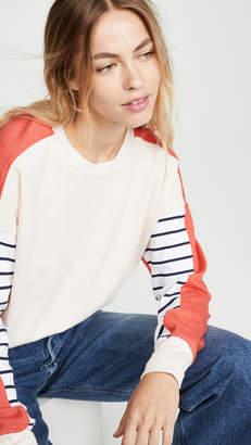 Sundry Stripe Colorblock Sweatshirt