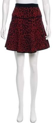 A.L.C. Leopard Print Mini Skirt