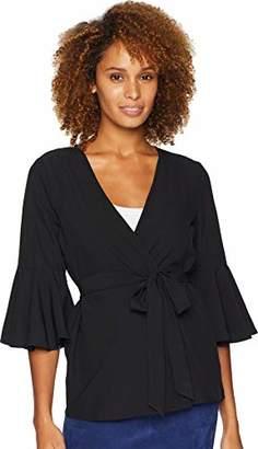 Bobeau Women's Apparel Women's Bell Sleeve Woven Cardigan