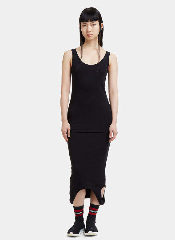 Double Ended Tank Top Dress in Black
