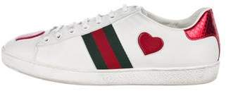 Gucci 2018 Ace Heart Low-Top Sneakers