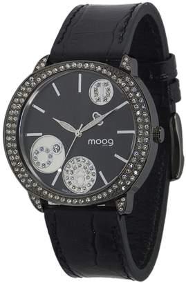 Swarovski Moog Paris G-power Women's Watch with Dial, Genuine Leather Strap & Elements - M45022-003