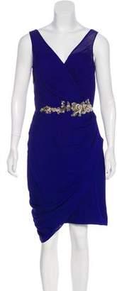Marchesa Silk Knee-Length Dress w/ Tags
