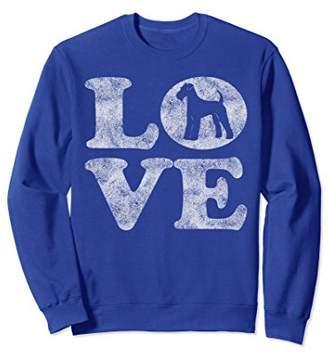 Retro I Love My Airedale Terrier Sweatshirt