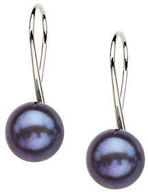 Honora Sterling 10.0mm - 10.5mm Color CulturedPearl Earrings