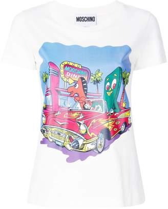 Moschino logo diner print T-shirt
