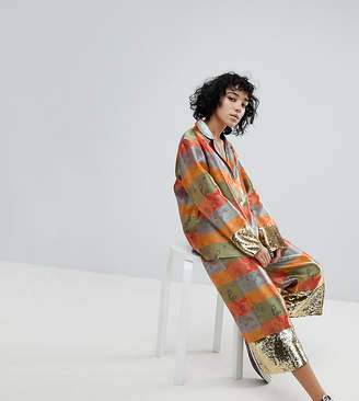 Reclaimed Vintage Inspired Rainbow Brocade Pants Co-Ord