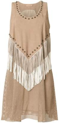 Drome studded fringe dress