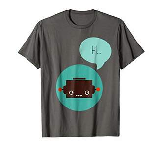 Cute Robot Cartoon Hi Saying Robotic T Shirts