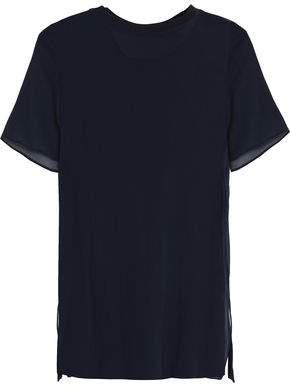 Joseph Layered Silk-Georgette And Cotton-Jersey T-Shirt