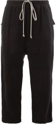Rick Owens cropped drawstring waist trousers