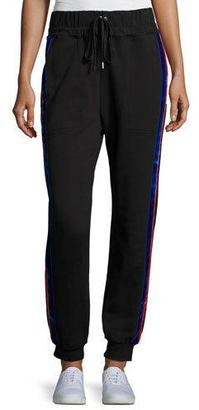 Public School Lucia Side-Stripe Jogger Pants $375 thestylecure.com