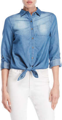 Love Tree Knotted Chambray Shirt