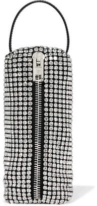 Alexander Wang Leather-trimmed Crystal-embellished Mesh Tote - Silver