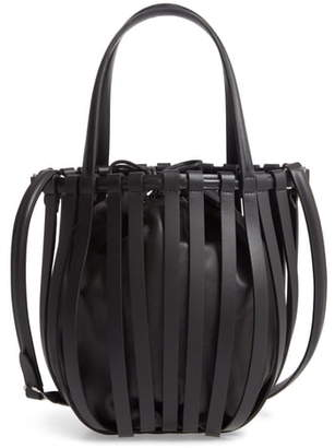 Paco Rabanne Harness Leather Bucket Bag