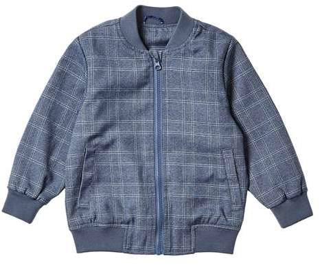 **Boys Blue Checked Smart Bomber Jacket (18 months - 6 years)