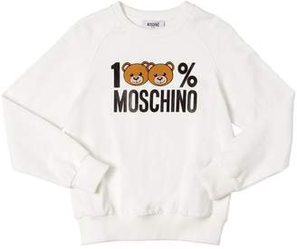 Moschino 100% Printed Cotton Sweatshirt