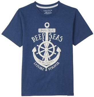 Nautica Little Boys Short Sleeve Deep Seas Crewneck Graphic Tee