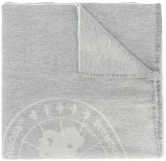 Canada Goose logo knit scarf