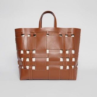 Burberry Large Leather Foster Tote