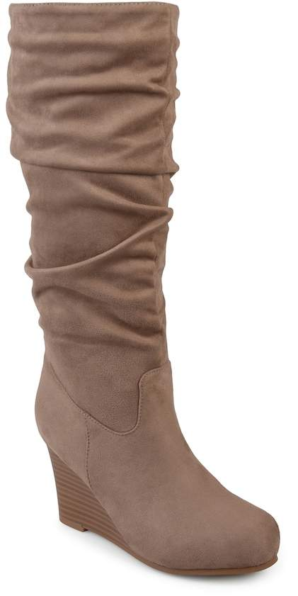 Journee Collection Haze Women's Wedge Slouch Knee High Boots