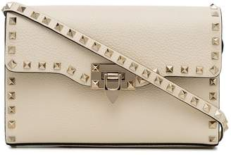 Valentino Off-white Rockstud Leather Crossbody Bag