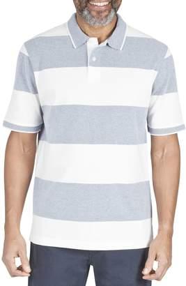 Haggar Birdseye Stripe Cotton Rugby Polo