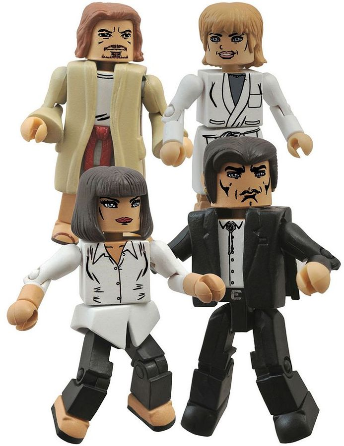 Diamond select toys Pulp Fiction 20th Anniversary Minimates Jackrabbit 4-pk. Mini Action Figures by Diamond Select Toys