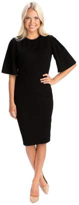 Rachel Parcell Flutter Sleeve Dress in Black