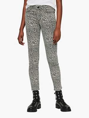 3a7eb4c62e8a AllSaints Grace Ankle Leopard Print Skinny Jeans, Brown