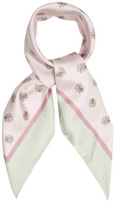 Valentino Floral-print silk-blend scarf