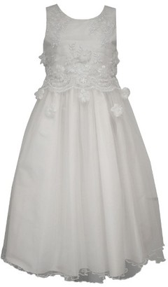 Girl's Iris & Ivy Embroidered First Communion Dress $95 thestylecure.com