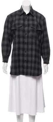 Saint Laurent 2013 Plaid Wool Shirt
