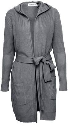 Vhny Dark Grey Knit Cardigan With Waist Belt