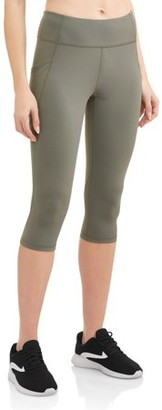 Athletic Works Women's High Waisted Capri Workout Leggings
