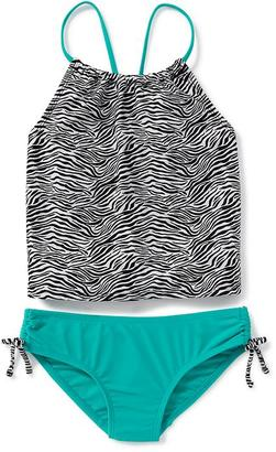 2-Piece Ruched Tankini Set for Girls $22.94 thestylecure.com