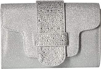 Jessica McClintock Alexis Glitter Mesh Stones Clutch Shoulder Bag