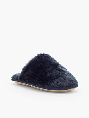 Talbots Hot Toddy Faux-Fur Slippers