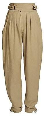 Isabel Marant Women's Yurnea Belted Poplin Pants